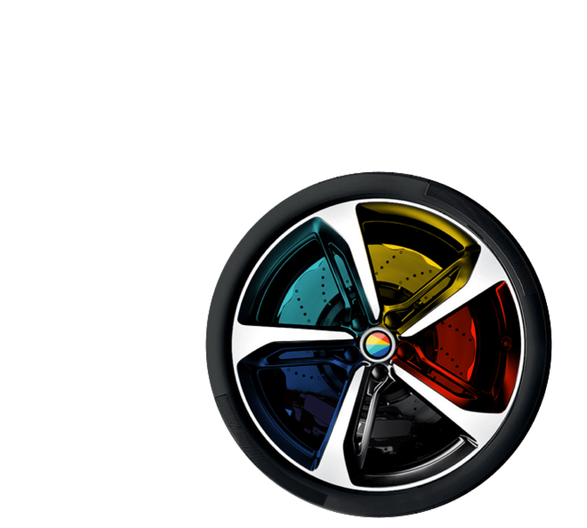 Coloured Car Wheel